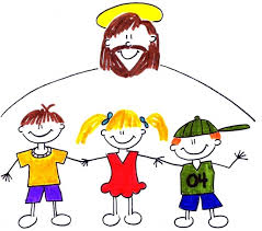 Jesus with children logo